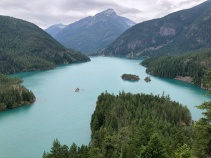 Looking down on Diablo Lake from Diablo Overlook