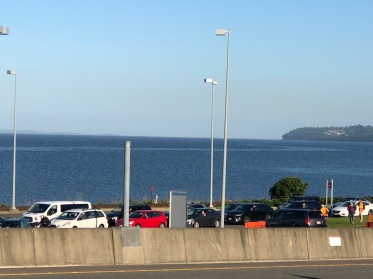 View of the border looking out to Semiahmoo Bay
