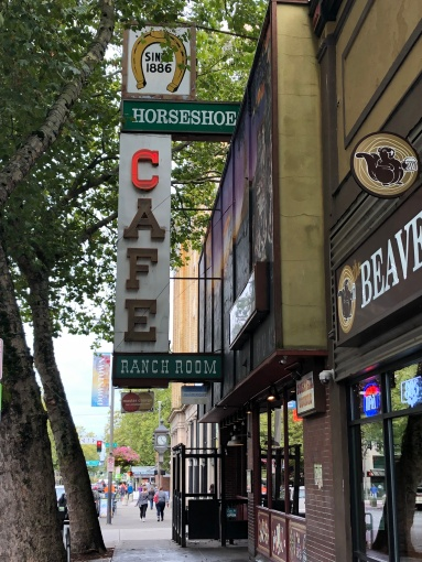The iconic Horseshoe Cafe in downtown Bellingham - since 1886!