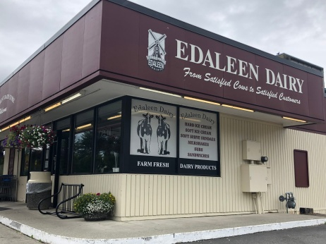 Try the delicious ice cream from the Edaleen Dairy in Sumas