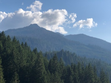 The foothills are beautiful on the drive up to Mount Baker
