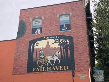 One of the great murals in historic downtown Fairhaven