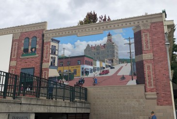 A great mural next to the Village Green in historic downtown Fairhaven