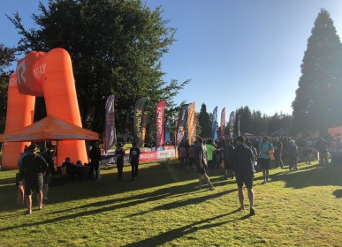 A beautiful morning for the first leg of the Ragnar race - Peace Arch Historical Park