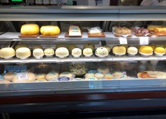 So many delicious cheese at Samish Bay Cheese in Bow, just off Chuckanut Drive