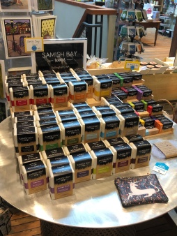Local area Samish Bay Soaps are lovely!