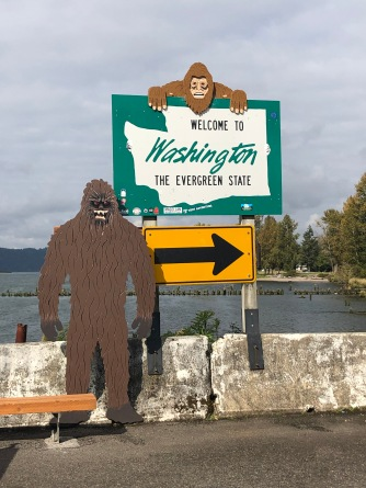 Sasquatch welcomes you to Washington!