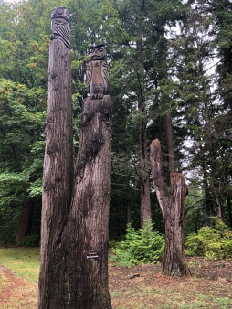 Great carvings at Whatcom Falls Park