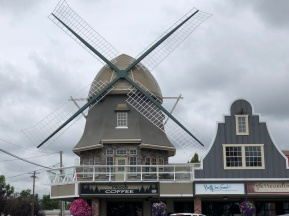 Windmills are everywhere in Lynden. (Woods Coffee)