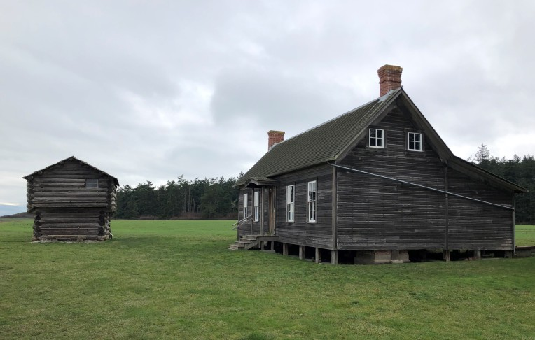 Part of the Ebey homestead and one of four blockhouses