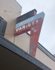 Classic neon signage in downtown Oak Harbor