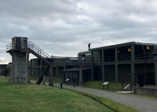 Walking around the Fort Casey defenses