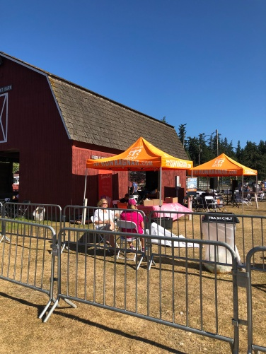 The Ragnar scene at the Whidbey Island Fairgrounds