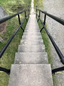Tower stairs at Fort Casey.