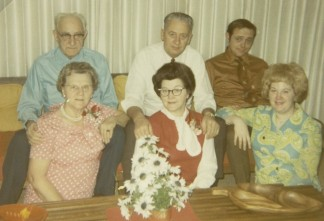 Great Grandma & Grandpa Miner, Grandma & Grandpa Brown and my Mom & Dad. (My dad looks suspicious in this one...)