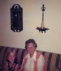Dig the wrought iron! Me and my Great Grandma Miner.