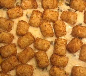 The one, the only, the classic: TATER TOT CASSEROLE.