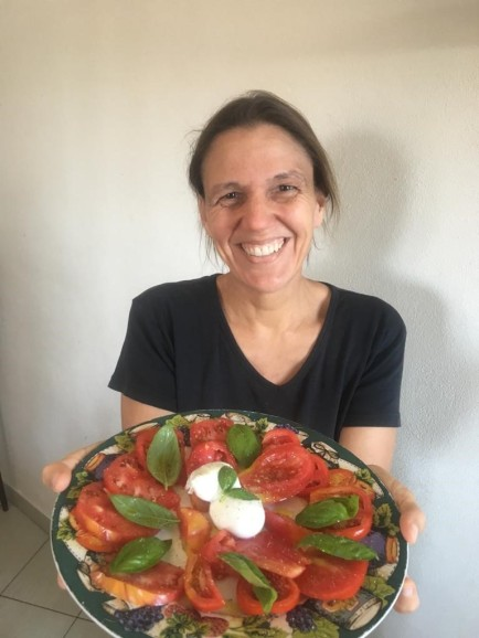My dear friend, Erica and a delicious plate of Insalata Caprese