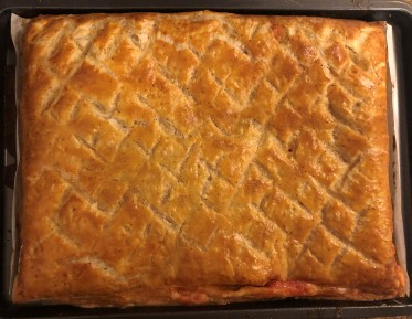 Fresh out of the oven - Tuscan Pie! (Though I'm not really sure how Tuscan it actually is... Erica?)