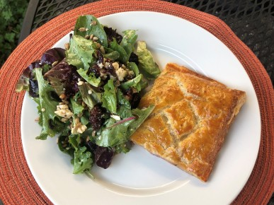 Tuscan Pie and mixed greens with Gorgonzola and vinaigrette
