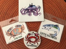 I was so excited to find the artist behind the 12th Salmon - AND 12th Crab!