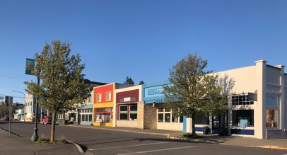 A lovely scene in downtown Ilwaco