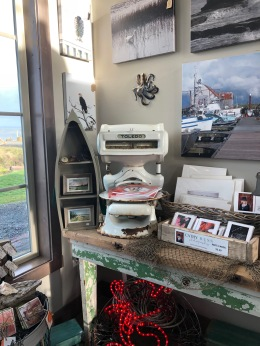 Great local artists in the Nelson Crab gift shop