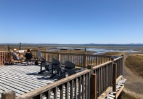 A lovely day to sit on the deck and enjoy some oysters...