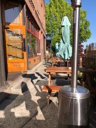 Outdoor dining at Pixan