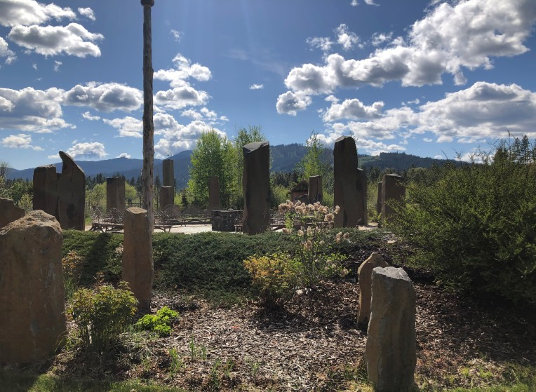 The stone circle in the Druid Sanctuary